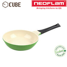 [NEOFLAM] ECOLON Coating Cube 20cm Fry Pan Leaf Green Non-stick Natural Coating
