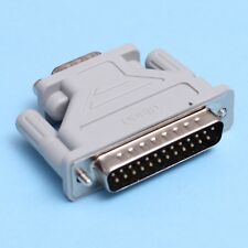 25 Pin DB-25 Male to 9 Pin DB-9 Male Serial Interface Adapter Light Grey DB25 DB