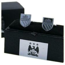 Manchester City Fc Chrome Crest Cufflinks In Gift Box Man City Mens Executive