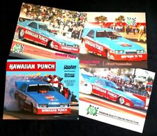 1984-1987 Roland Leong Hawaiian Punch Dodge Funny Car handout cards Dunn Mopar