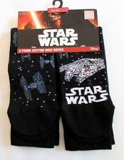 Nuevo 2 Pares Star Wars Calcetines de Algodón One Size 6-12 Disney M&S Día Del