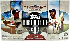 2019 Topps Tribute Baseball Factory Sealed Hobby Box   **Free Shipping**