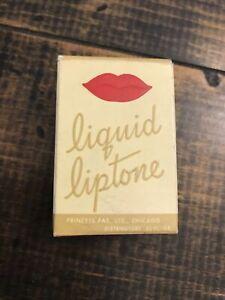 RARE Vintage Princess Pat Liquid Liptone In Box Parisian 1940s lipstick Gypsy 💥