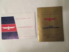 Vtg S S President Roosevelt Cruise Ship Entertainment Program and Photo 1967