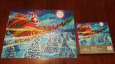 "Hallmark Merry Christmas To All 550 Pc Puzzle 18"" x 24"" Interlocking Used VG CIB"