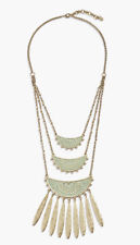 Lucky Brand Gold-Tone And Seafoam Green Patina Layered Statement Necklace