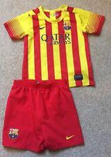 Kit De Fútbol Nike Barcelona Childs Niños Camiseta Pantalones Cortos Edad 2-3 años