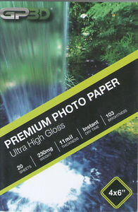 "High Glossy Photo Paper 20 Pages per Pack 4"" x 6"" White, new. with free delivery"