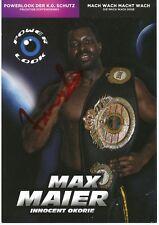 Max Maier  Boxen  Autogrammkarte original signiert 361093