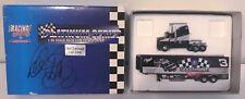 Dale Earnhardt Sr. REAL hand SIGNED 1:96 Action Race Car Transporter 1/3000 COA