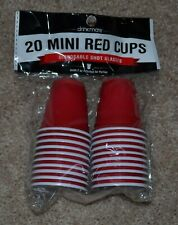 Drinkmate 20 Mini Red Cups Disposable Shot Glasses