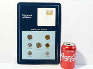 1989 Coin Sets All Nations & Postage Stamp Republic of Austria 7 BUNC coins