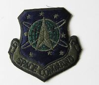 USAF AIR FORCE SPACE COMMAND SHIELD SUBDUED EMBROIDERED PATCH 3 INCHES
