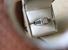 Sapphire and Diamond Ring—- Price Dropped