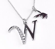 Playboy Platinum Plated Bunny Initial Pendant - Letter W - BRAND NEW