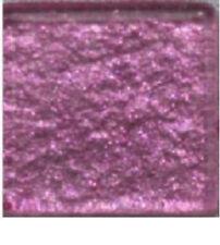 Glass Mosaic Tiles -  ROSE PINK METALLIC - 3/4 inch - 20 count - Art Tiles