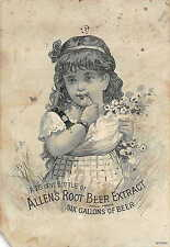 Allen's Root Beer Extract - Vintage 1800's Trade Card Advertisement