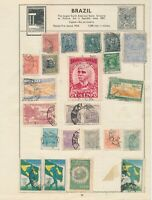 BRAZIL: 339 STAMPS FROM EARLIEST TO ABOUT MID-1900s ON ALBUM AND STOCK PAGES