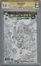 BLACKEST NIGHT #8 REIS SKETCH VARIANT CGC 9.8 SIGNATURE SERIES SIGNED JOHNS DC