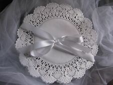 """100 pcs 8"""" INCH ROUND FRILLY WHITE PAPER LACE DOILIES CRAFT FAST FREE SHIPPING"""