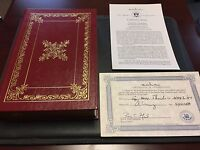 "President George H. W. Bush Signed Autographed ""All The Best"" Leather Bound Book"