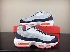 New Nike Air Max 95 Navy Blue Orange Women's Shoes [307960-405] Size Vapormax