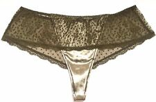NWT*Victoria's Secret Dream Angels Velvet Hipster Thong Panty-BEECH OLIVE--XL/XG