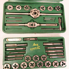Ace/Hanson Super Set of Taps & Dies No 614 Vintage Nice in Molded Case USA