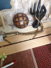CHICOS Chain Link belt with Large Metal Decorative Art around it, Unique