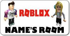Personalised Roblox Aluminium Door Name Plaque