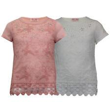 T-shirts et débardeurs en dentelle pour fille de 2 à 16 ans