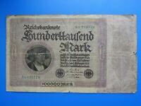 #8527# ALLEMAGNE/ 100000 CENT MILLE MARK 1923/ BILLET DE BANQUE