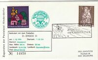 Austria 1973 Christmas Angel Slogan Cancel Balloon Post Stamps Cover Ref 28012