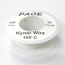 100' Page 30AWG WHITE KYNAR Insulated Wire Wrap Wire 100 Foot Roll ~ Made In USA