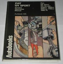 Manuale Riparazione Fiat 124 Sport (Spider + Coupe ),Anno di Costruzione