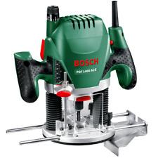 BOSCH Oberfräse POF ACE 1400 Watt + Nutfräser (Ø 8 mm) + Absaugadapter + KOFFER