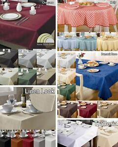 Table Cloth Kitchen Dining Tablecloth Table Cover Protector Rectangle Circular