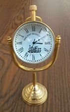 Vintage Style Brass Table Top Brass Clock Double Face Table Clock Home Decor