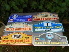 Lot de 6 anciennes plaques de rallye de voiture automobile années 70, 90.