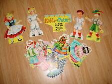 Vtg- 60s-70s-Paper Dolls-Cut Outs Clothes-Heide Peter-Original