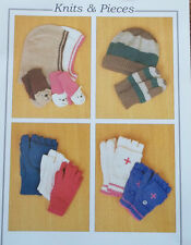 FINGERLESS GLOVES HAT BALACLAVA FOR CHILDREN  GLOVES MENS SIZES KNITTING PATTERN
