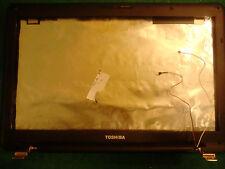 TOSHIBA L500 Carcasa de Pantalla + Marco + Bisagras + Cables wifi