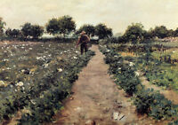 Dream-art Oil painting William Merritt Chase - The Potato Patch landscape canvas