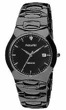 Accurist Gents Black Ceramic Case and Bracelet Watch MB992S