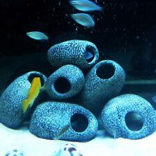 Stone Rock Cave Aquarium Fish Tank Ornament Shrimp Breeding Decoration RF