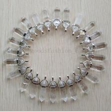 Natural crystal quartz stone Point Chakra Healing Pendants 24pcs/lot Wholesale