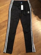 Adidas SuperGirl BNWT Womens Black Track Pant Bottoms UK 14