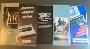 5 Vintage Computer sales brochures IBM PC clone Sperry Columbia Maynard 1980s