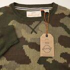 Weatherproof Vintage Crew Neck Pullover Sweater Mens Size Medium Camo Green NEW