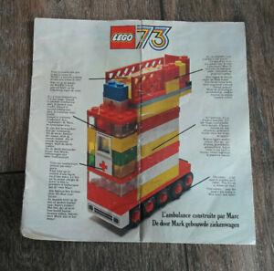 LEGO * LIVRET CATALOGUE ASSORTIMENT 1973 * FRANCE *